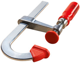 Bessey LMU2.008 - Clamp, woodworking, F-style, zinc jaws, swivel pads, 2 In. x 8 In., 330 lb