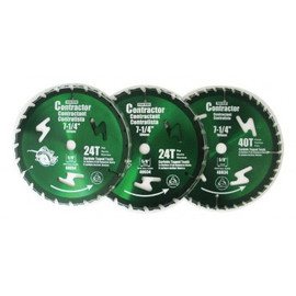 "Samona/ROK -  3 PC 7-1/4"" Circular Saw Blades (Green) - 40034"