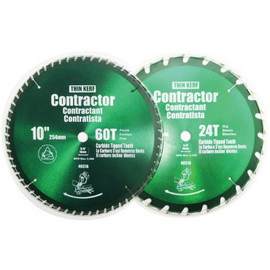 "Samona/ROK -  2 Pc 10"" Circular Saw Blades (Green) - 40316"
