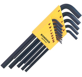 Bondhus -  Set of 13 Hex L-wrenches, Long Length, sizes .050-3/8-Inch - 12137
