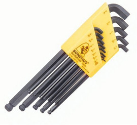 Bondhus 16537 - Set of 13 Balldriver Stubby L-wrenches, sizes .050-3/8-Inch