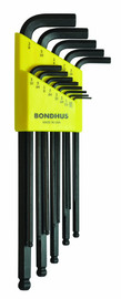 Bondhus -  Set of 13 Balldriver L-wrenches, sizes .050-3/8-Inch - 10937