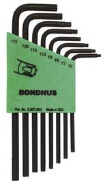 Bondhus -  L-Wrench Set - Star, Tamper Resistant, TR6-TR25, 8 Pc - 32432