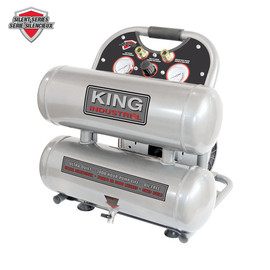 King Canada KC-4620A - 4.6 Gallon ultra-quiet oil-free air compressor