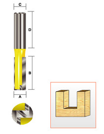 "Kempston 106434 - Straight Bit w/Bottom Cutter, 1/2"" x 1-1/4"""