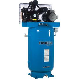 Omega -  5 HP Horizontal Compressor - Two Stages - TK-5080V-01M