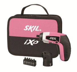 SKIL -  Compact 4V Max Lithium-Ion Driver Combo Kit with Right Angle, Pink - 2354-04
