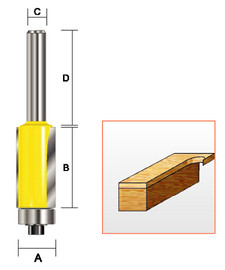 Kempston 151451 - Flush Trim Bit, 1/2' x 1-1/2""