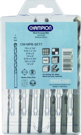 Champion -  Cutting Tool CM-MPB-SET Proline SDS Plus Concrete Drill Set, 7-Piece - CM-MPB-SET7