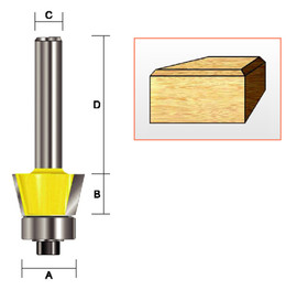 "Kempston 157031 - Bevel Trim Bit, 1/2"" x 1/2"" x 45D"