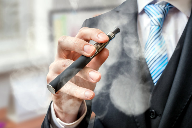 Vaping Businessman