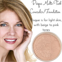 Bisque Multi Task Concealer - Full Coverage Matte Mineral Foundation | Titanium-Free