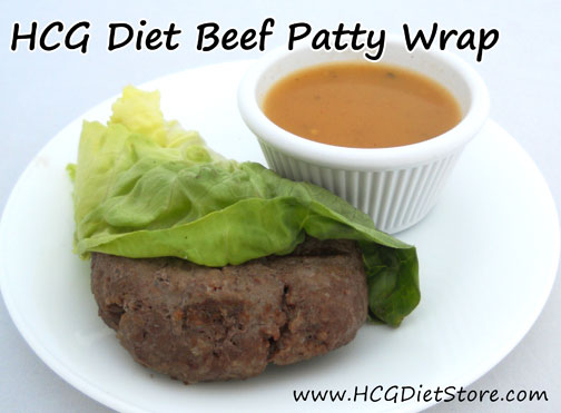 Using lettuce as a wrap keeps your HCG meals on track and no-carb!