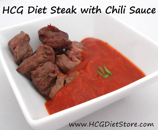 This site is great for free HCG recipe! See this Steak and Chili Sauce recipe and tons of other HCG recipes HERE!