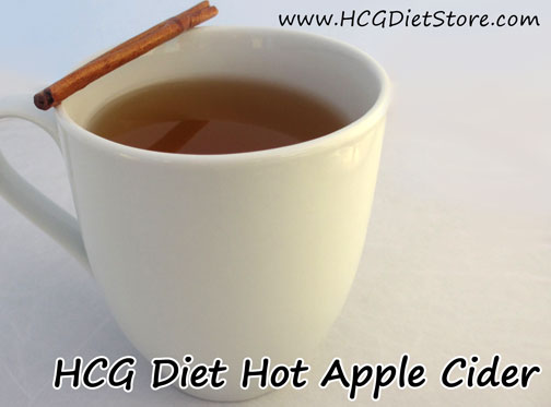 Hot Apple Cider HCG recipe! Remember... it counts as your fruit serving even though it is just a drink!