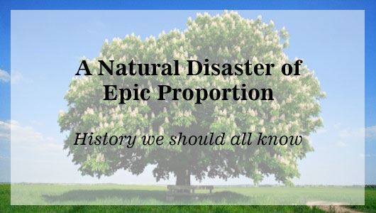 A Natural Disaster of Epic Proportion: History we all should all know
