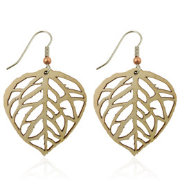 Aspen Leaf earring on aspen-large