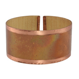 Dawn wood copper cuff bracelet
