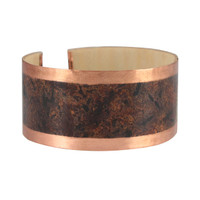 Adama wood copper cuff bracelet