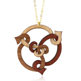 Trystan Pendant in Maple, Cherry, Madrone