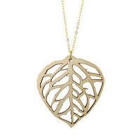 Aspen Leaf wood pendant on Aspen