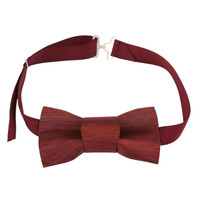 Forestique Wooden Bow tie in Burmese Coralwood