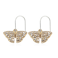 Junonia Wooden Earring Small in Aspen