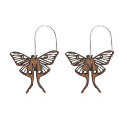 Luna Wooden Earring Large in African Mahogany