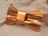 Copper Bow tie  Solid