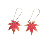 Japanese Maple Earrings - Autumn