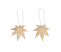 Japanese Maple Earrings - Natural