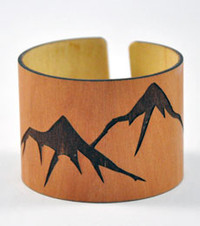 Dakota: Madrone Engraved Wood Cuff Bracelet