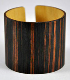 Meredith- Ebony Wood Wide Cuff Bracelet
