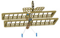 Front view of MicroSSX Biplane's airframe.