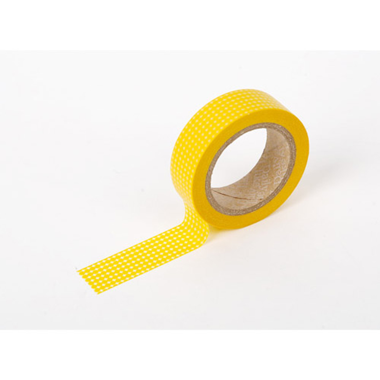 dailylike deco masking tape single yellow dot fallindesign. Black Bedroom Furniture Sets. Home Design Ideas