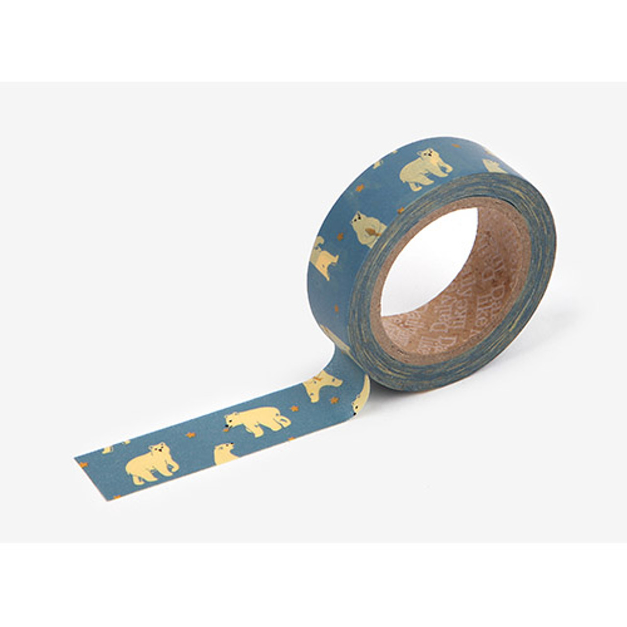 dailylike deco masking tape single friendly bear. Black Bedroom Furniture Sets. Home Design Ideas