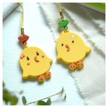 Lovely chick phone strap