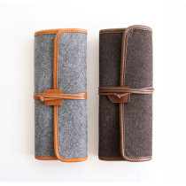 The Basic handmade felt roll pencil case