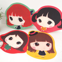 Cute mini girl mouse pad