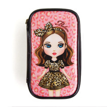 Cosmetic make pouch bag - leopard