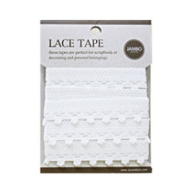 Adhesive cotton lace tape M white - 03