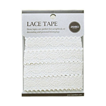 Adhesive cotton lace tape M beige - 04
