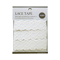 Adhesive cotton lace tape M beige - 06