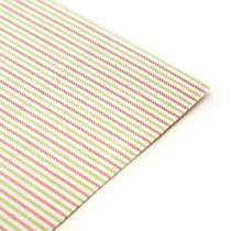Fabric sticker - strawberry berry stripe