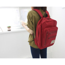 Wanna be a traveler square backpack - Ox red
