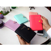 Button RFID blocking passport cover holder