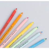 Eco recycled paper 7 color pencil set