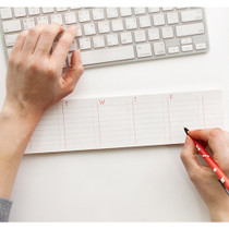 Undated weekly lined planner sticky memo desk pad
