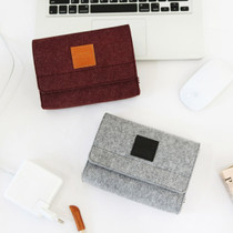 The Basic felt pouch case for degital accessories