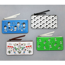 Funny illustration flat zipper pouch ver.2